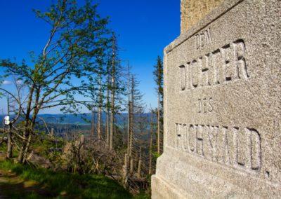 Pomník A.Stiftera nad Plešným